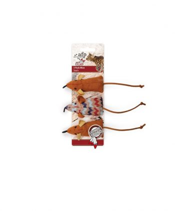 ANIMAL HOUSE HOSPITAL - PRODUCTS AFP DREAM CATCHER 3 MICE BROWN