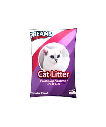 ANIMAL HOUSE HOSPITAL - PRODUCTS DREAMS CAT LITTER 5KG LAVENDER