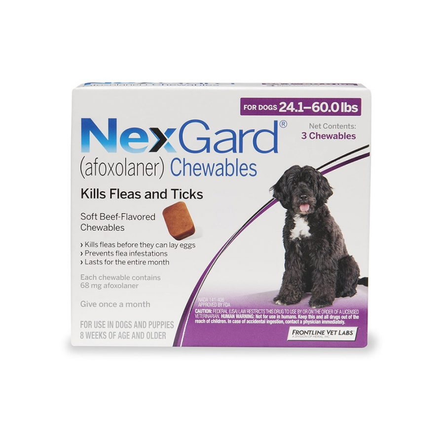 ANIMAL HOUSE HOSPITAL - PRODUCTS NEXGARD DOGS 10 25KG PER TABLET