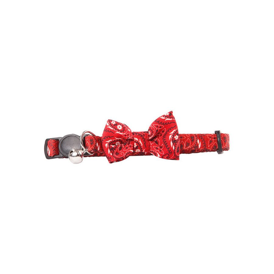 ANIMAL HOUSE HOSPITAL - PRODUCTS PAWISE CAT COLLAR BOWKNOT RED