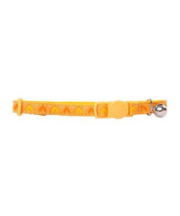 ANIMAL HOUSE HOSPITAL - PRODUCTS PAWISE CAT COLLAR HEART YELLOW