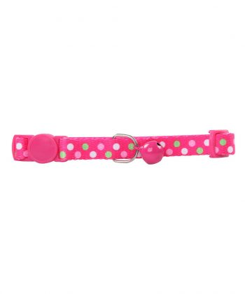 ANIMAL HOUSE HOSPITAL - PRODUCTS PAWISE CAT COLLAR POLKA DOTS PINK