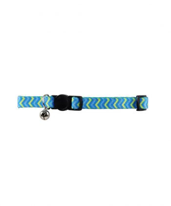 ANIMAL HOUSE HOSPITAL - PRODUCTS PAWISE CAT COLLAR RIPPLE BLUE