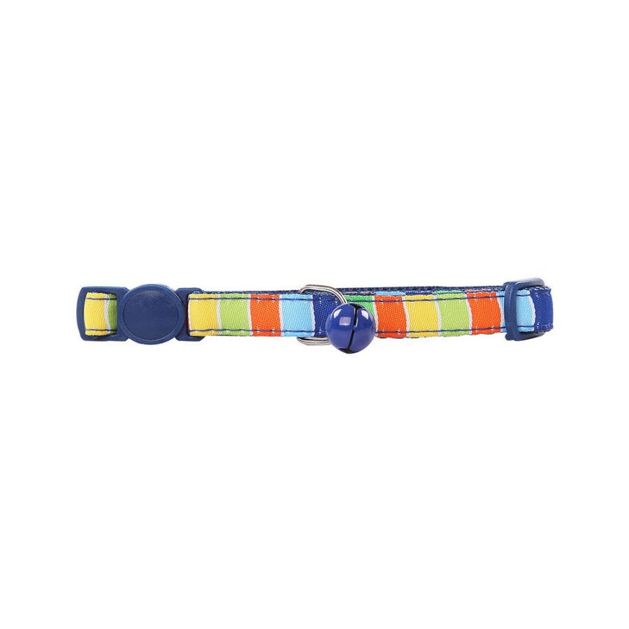 ANIMAL HOUSE HOSPITAL - PRODUCTS PAWISE CAT COLLAR STRIPE BLUE
