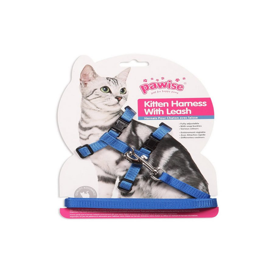 ANIMAL HOUSE HOSPITAL - PRODUCTS PAWISE CAT HARNESS WITH LEASH BR GALLERY 2