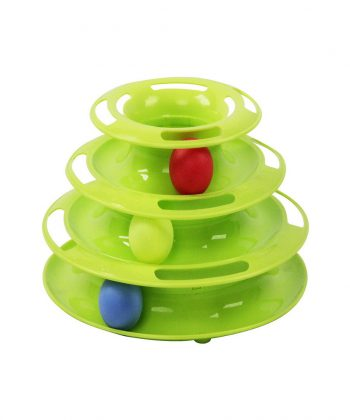 ANIMAL HOUSE HOSPITAL - PRODUCTS PAWISE CAT TRACK TOWER GREEN