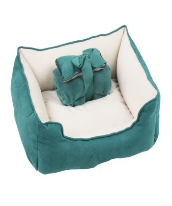 ANIMAL HOUSE HOSPITAL - PRODUCTS PAWISE DOG BED WBLANKET BONE GREEN