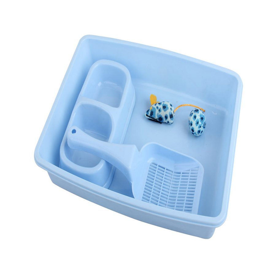 ANIMAL HOUSE HOSPITAL - PRODUCTS PAWISE KITTY STARTER KIT BLUE