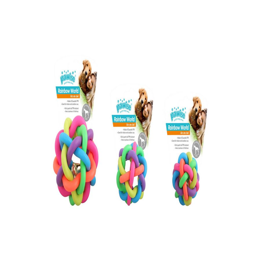 ANIMAL HOUSE HOSPITAL - PRODUCTS PAWISE RAINBOW WORLD BALL S M L