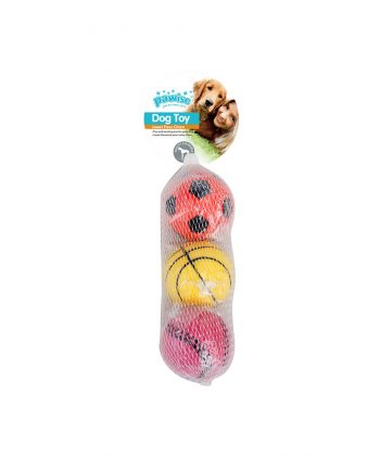 ANIMAL HOUSE HOSPITAL - PRODUCTS PAWISE SPONGE BALL PACK OF 3