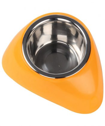 ANIMAL HOUSE HOSPITAL - PRODUCTS PAWISE SS BOWL WPLASTIC STAND 350ML ORANGE