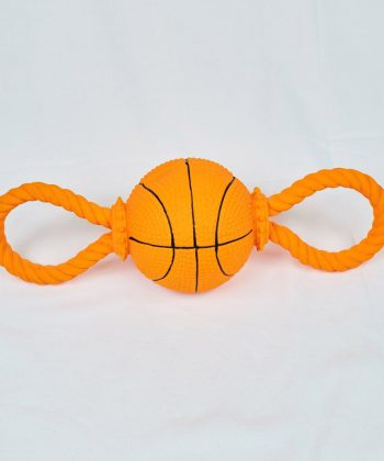 ANIMAL HOUSE HOSPITAL - PRODUCTS PET LOVE LATEX TOY WITH BASKET BALL