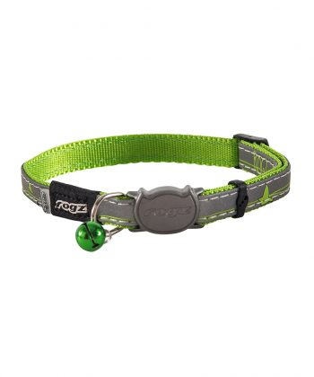 ANIMAL HOUSE HOSPITAL - PRODUCTS ROGZ CB08 L NIGHT CAT SAFELOCK BUCKLE COLLAR
