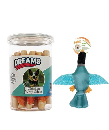 Animal house hospital free gift Pawise Funky Wings Dreams Chicken Wrap Sticks 250g